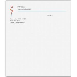 Lettre Infirmière (Boîte de 100 ex)