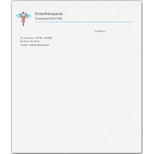 Lettre Kinésithérapeute (Boîte de 100 ex)