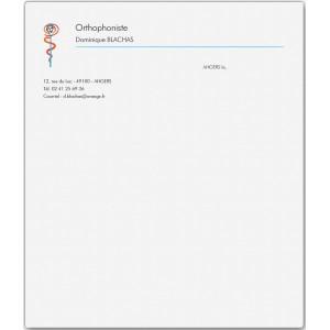 Lettre Orthophoniste (Boîte de 100 ex)