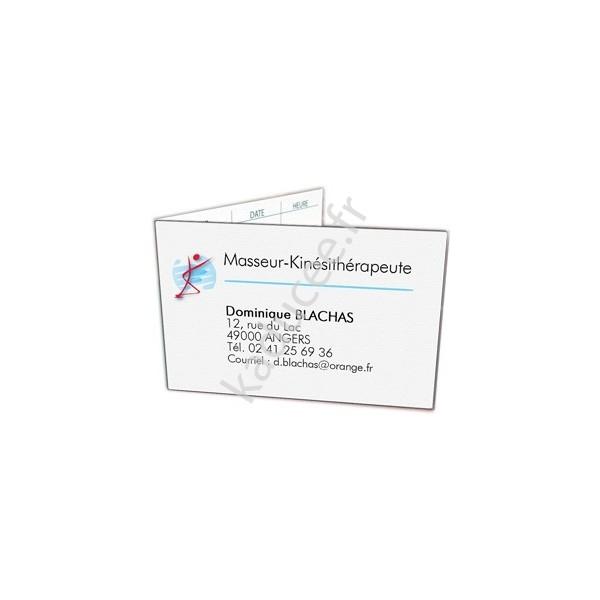 Top Kaducee.fr : Carte de rendez-vous Kinésithérapeute (Boîte de 100 ex) RY61