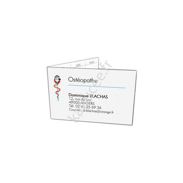 Carte de rendez-vous Ostéopathe, cabinet ostéopathie 374ba3426f40
