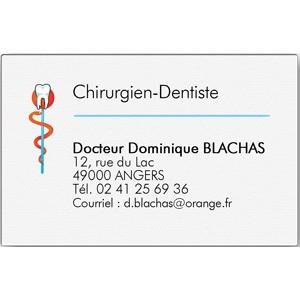 Carte De Visite Chirurgien Dentiste Grand Format Bote 100 Ex
