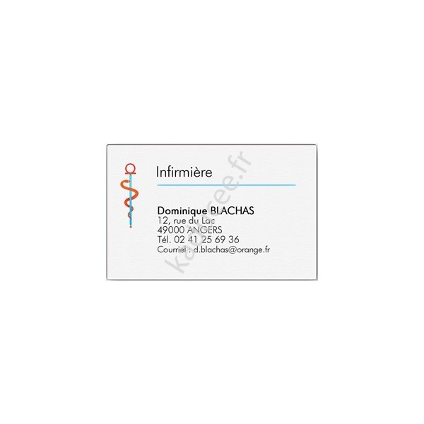 Carte De Visite Infirmiere Grand Format Boite 100 Ex