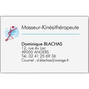 Carte de visite Kinésithérapeute grand format (Boîte de 100 ex)