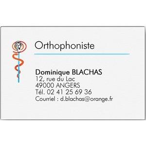 Carte De Visite Orthophoniste Grand Format Bote 100 Ex