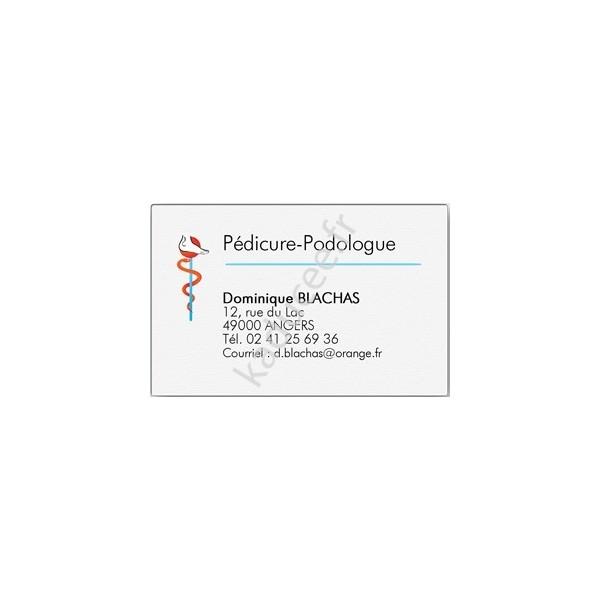 Carte De Visite Pdicure Podologue Grand Format Bote 100 Ex