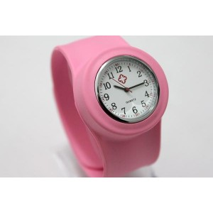 Montre Slap Silicone Poignet Rose