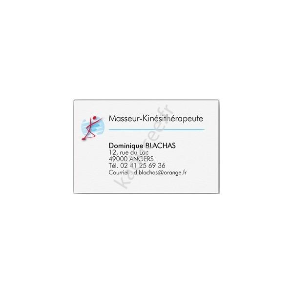 Carte De Visite Kinesitherapeute Boite 100 Ex