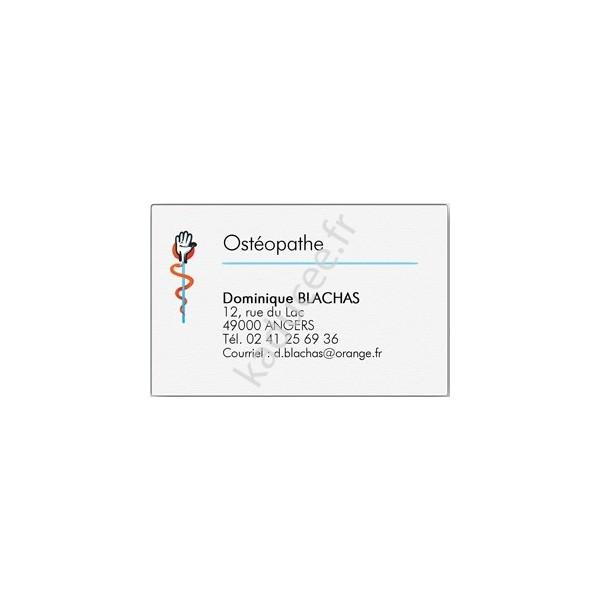Carte de visite Ostéopathe, cabinet ostéopathie 6a4620853af8